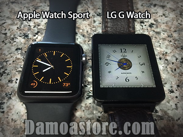 Apple Watch Sport(38mm) vs LG G Watch
